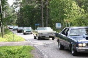 Lauantaina Pyhäjärven letka-ajeluun osallistui yli 50 harrasteajoneuvoa.