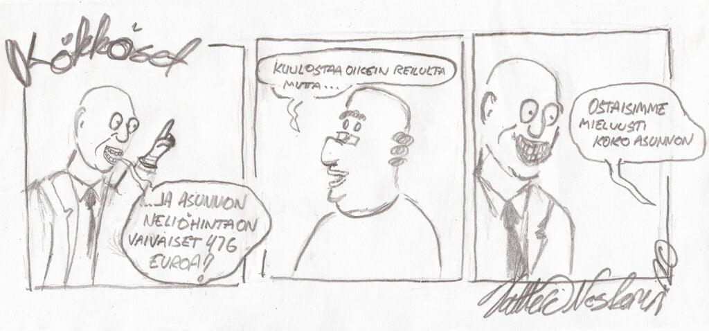 Kökköset sarjakuva